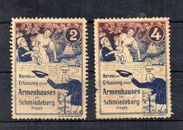 Germania - 2 ETICHETTA - ERINNOFILO - Associazione X La Costruzione Casa Poveri A Schmiedeberg - Nuovo **- (FDC20928) - Vignetten (Erinnophilie)
