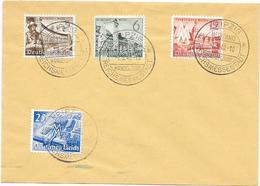 DR Brief Mit MI.739-742 + SST. Leipzig Reichsmessestadt 7.3.1940 Messehaus Handelshof - Briefe U. Dokumente