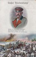 AK Unser Hindenburg - Deutsche Soldaten Beim Angriff - Gedicht Patriotika - Crefeld Colmar 1915  (48558) - War 1914-18