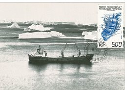 Carte Maximum Lady Franklin 1988 - Tierras Australes Y Antárticas Francesas (TAAF)