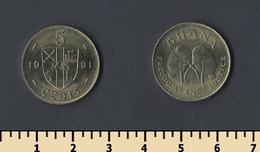Ghana 5 Cedi 1991 - Ghana