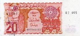 ALGERIA 20 DINARS 1983 P-133a.2 UNC(2 FORI PICOLI) - Algeria