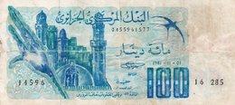 ALGERIA 100 DINARS 1981 P-131a.3 CIRC. - Algeria