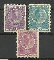 MONTENEGRO 1913 Tšernogorien Tsernogoria Nikola I Michel 24 - 26 * Porto Postage Due - Montenegro