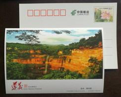 Chishui Danxia Grand Waterfall In Foguangyan Scenic Spot,China 2016 Zunyi Scenery Advertising Pre-stamped Card - Holidays & Tourism