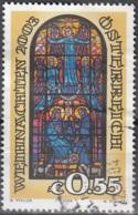 Österreich 2003 Michel 2453 O Cote (2009) 1.10 Euro Noël Vitrail Cachet Rond - 1945-.... 2ème République