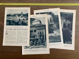 1914 JST LES BELLES FONTAINES NEPTUNE MADRID GRANJA ALHAMBRA DE GRENADE BRUNSWICK HOLYWOOD EDIMBOURG - Vieux Papiers