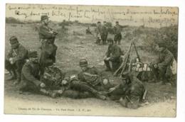 Champ De Tir Chenove - Un Petit Poste (groupe Militaires En Pause, Fusils En Faisceau - Circ 1903, Cachet Boite Rurale C - Chenove