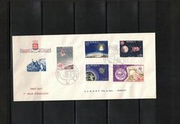 Monaco 1965 100 Years Of UIT FDC - Autres