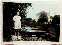 №63  Photography Of Girl, Child, Colored - 1950's, Old FOTO PHOTO - Anonymous Persons