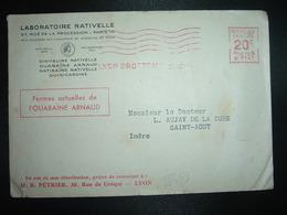 LETTRE EMA B 0747 à 20c Du 29 AOUT 27? LYON BROTTEAUX (69) + LABORATOIRE NATIVELLE - Marcophilie (Lettres)