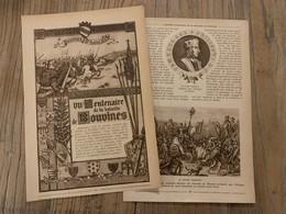 1914 JST 7 EME CENTENAIRE DE LA BATAILLE DE BOUVINES - Vieux Papiers