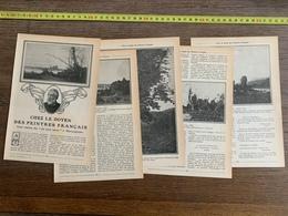 1914 JST CHEZ LE DOYEN DES PEINTRES FRANCAIS HENRI HARPIGNIES - Vieux Papiers