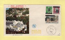 Naissance De L Etat Algerien - 1962 - Timbres Surcharges EA - Premier Jour - Rare - Algeria (1924-1962)