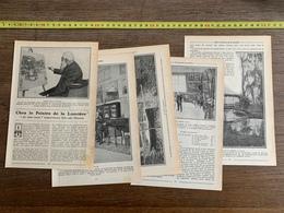 1914 JST CHEZ LE PEINTRE DE LA LUMIERE CLAUDE MONET PAR ANDRE ARNYVELDE - Vieux Papiers