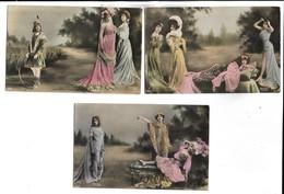 FEMMES - Lot De 5 Cartes Postales - Femmes