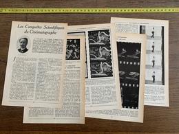 1914 JST CONQUETES SCIENTIFIQUES DU CINEMATOGRAPHE PAUL DESCHANEL - Vieux Papiers