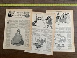 1914 JST CONSEILS POUR CARNAVAL MIGUEL ZAMACOIS JIM HEWARD - Vieux Papiers