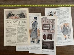 1914 JST MR COQUILLE POLICIER RODOLPHE BRINGER DESSINS LABORDE - Vieux Papiers