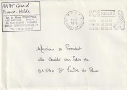 """Rouen St. Sever Flamme Illustrée En * P.P. * S.O.S. AMITIE ..."""". (superbe) - Marcophilie (Lettres)"""