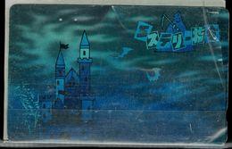 JAPAN 1990 PHONECARD DISNEY SILVER CARD USED VF!! - Disney