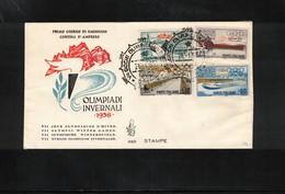 Italy / Italia 1956 Olympic Games Cortina D'Ampezzo FDC - Inverno1956: Cortina D'Ampezzo