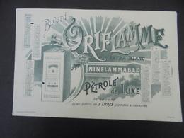 BUVARD - ORIFLAME, ININFLAMMABLE, PETROLE DE LUXE - 2 PETITS TROUS PARTIE GAUCHE, VOIR SCAN - Buvards, Protège-cahiers Illustrés