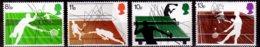 1977 Great Britain / UK Tennis Types 100 Years Of Wimbledon  MNH** MiNr. 727 - 730 Table Tennis, Squash Badminton - Tennis