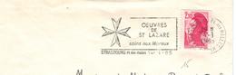 Strassbourg Halles 1985 - Oeuvres St. Lazare - Lepreux - Lepra - Malteser Kreuz - Medicina