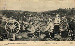 Militaria    L'artillerie Russe En Action En 1914 War Guerre   WWI WWICOLLECTION - Russie