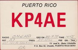 QSL Card Amateur Radio Station CB Puerto Rico Utuado - Radio Amateur
