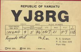QSL Card Amateur Radio Station New Hebrides Port Vila 1984 Vanuatu Funkkarte QTH - Radio Amateur