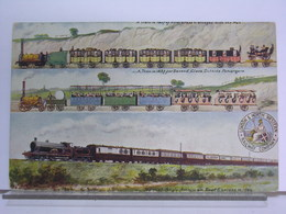 LONDON & NORTH WESTERN RAILWAY COMPANY - TRAIN IN 1837 FIRST AND SECOND CLASS - SPECIAL AMERICAN BOAT EXPRESS IN 1904 - Trains