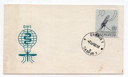 1962 YUGOSLAVIA,MACEDONIA,SKOPJE,FDC, 07.04.1962. COMMEMORATIVE ISSUE: MALARIA INTERNATIONAL DAY,MINT,INSECT,MOSQUITO - FDC