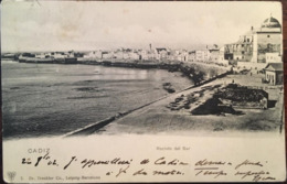 Cpa, Cadiz, Recinto Del Sur, éd Dr Trenkler Co, écrite En 1902, Timbre, Espagne - Cádiz