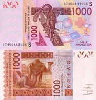 WEST AFRICAN STATES, Guinea Bissau,1000, 2018, Code S, P915Sq, UNC - Guinea-Bissau
