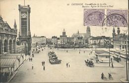 Oostende : Gare, Entrée De La Ville, Bassins , Eglise St Pierre Et Paul - Oostende