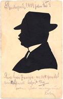 SILHOUETTE D' HOMME - COUPÉE À LA MINUTE ( ? ) : BUDAPEST / JUILLET 1909 - RRR !!! (ae356) - Silhouettes