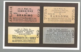 CPSM- Th. Transp. N°174, A Selection Of Tickets From The Isle Of Wight Railway , Ed. Dalkeith - Chemins De Fer
