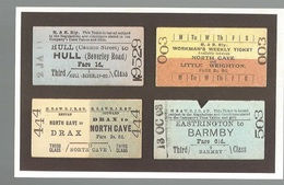 CPSM- Th. Transp. N°172 A Selection Of Tickets From The Hull & Barnsley  Railway , Ed. Dalkeith - Chemins De Fer