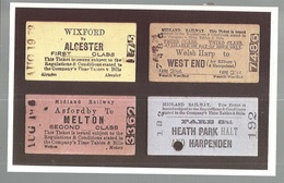 CPSM- Th. Transp. N°169, A Selection Of Tickets From The Midland Railway , Ed. Dalkeith - Chemins De Fer
