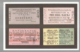 CPSM- Th. Transp. N°173, A Selection Of Tickets From The Midland & South Western Junction Railway , Ed. Dalkeith - Chemins De Fer