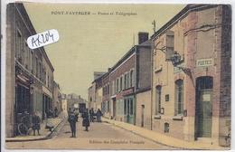 PONT-FAVERGER- POSTES ET TELEGRAPHES- TOILEE ET COLORISEE - France