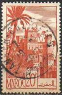 Maroc (Prot.Fr) Poste Obl Yv:264 Mi 265 Yv:0,5 Euro Kasbah De Tifoultout (TB Cachet Rond) - Gebraucht