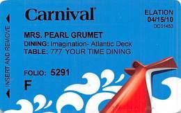 Carnival Cruise Ship Passenger ID/Room Key Card - Cartes D'hotel