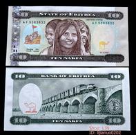 Eritrea 10 Nakfa P-3 1997 UNC BANKNOTE CURRENCY - Eritrea