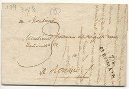 SEINE INFERIEURE LAC 1823    74  /  ST ROMAIN - Marcophilie (Lettres)