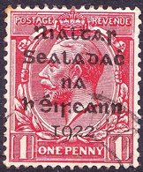 IRELAND 1922 KGV 1d Scarlet Érrors In Overprint SG2 Used - Usati
