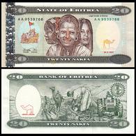 Eritrea 20 Nakfa P-4 1997 UNC BANKNOTE CURRENCY - Eritrea