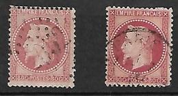 France  N°  32  Et 32a   Oblitérés  Gros Chiffres   Et Cachet à Date        B / TB    Soldé à Moins De 10  %  ! ! ! - 1863-1870 Napoleon III With Laurels